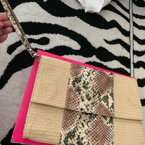 Handbags - Mixed print large wristlet